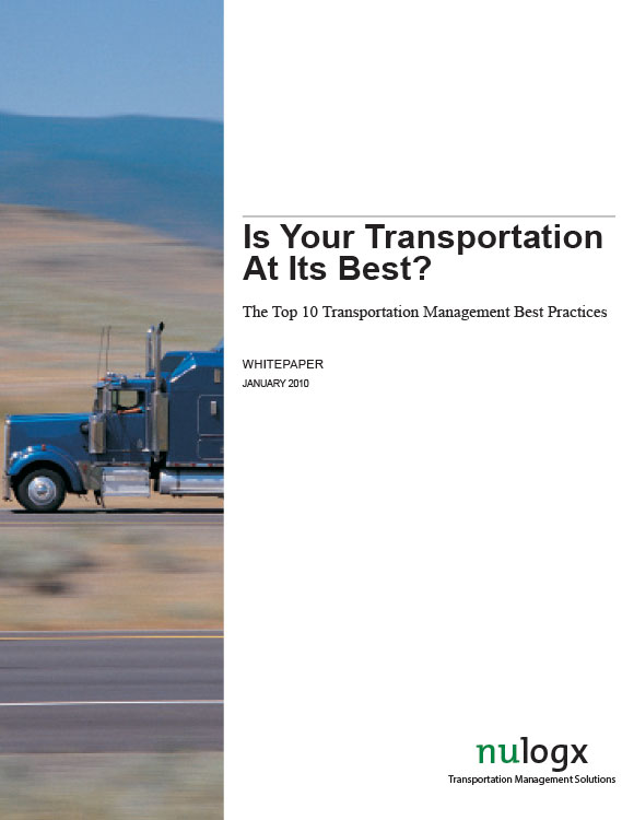 The Top 10 Transportation Management Best Practices