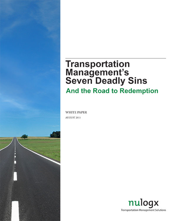 Transportation Management's Seven Deadly Sins